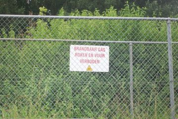 brandbaar gas roken en vuur verboden