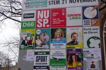 voorgedrukte verkiezingsborden