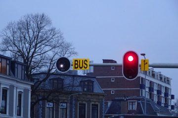 stoplicht voor een bus
