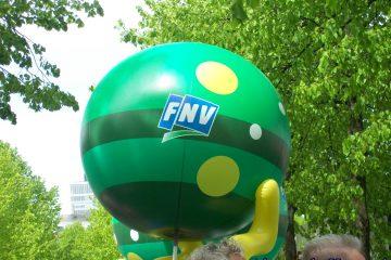 ballon met fnv logo