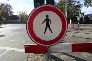 Verboden te lopen bord