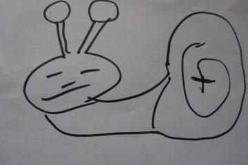 tekening van een slak