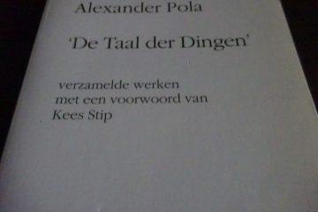de taal der dingen Alexander Pola