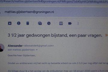 mail aan de wethouder