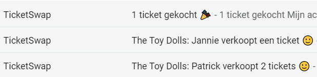 toy dolls ticketswap