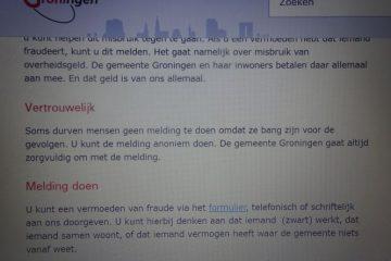 anoniem fraude melden bij de gemeente Groningen