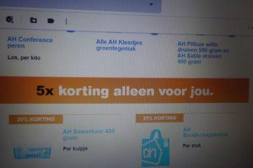 5 Persoonlijke Aanbiedingen wachten op jou. Albert Heijn bonus