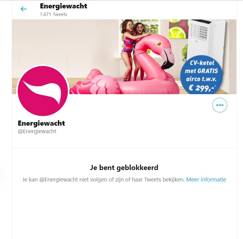 Energiewacht blokkeert mensen die klachten hebben vanwege overlast in opdracht van de gemeente Groningen