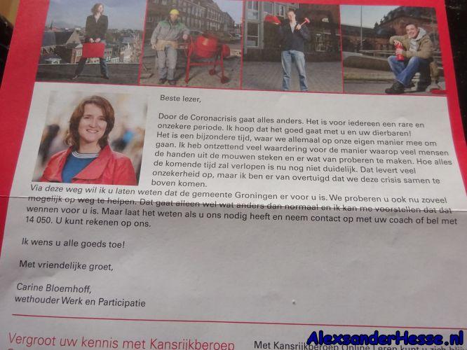 PvdA wethouder Carine Bloemhoff hoopt dat het goed gaat