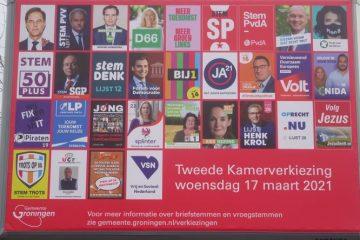 Groepsimmuniteit voor Mark Rutte. verkiezingsbord 2021